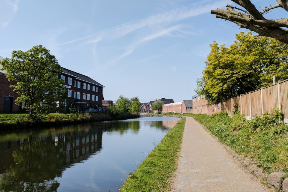 Sale canal on a sunny day